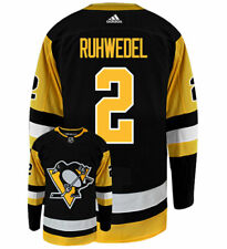 Chad Ruhwedel Pittsburgh Penguins Adidas Authentic Home NHL Hockey Jersey