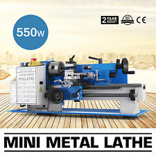 "7""x12"" Mini Metal Lathe Metalworking Woodworking 550W Bench Top Spindle DC Motor"