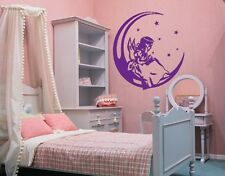 Angel on the Moon - highest quality wall decal stickers