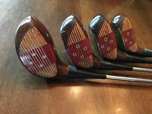 Vintage Macgregor Tommy Armour Oil Hardened Persimmon Wood Set - Super