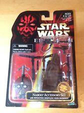 Star Wars The Phantom Menace Naboo Accessory Set ~ 1998 MInt On The Card ~
