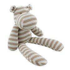 Bambino cotone righe lavorate a maglia-HIPPO soft toy