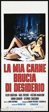 LA MIA CARNE BRUCIA DI DESIDERIO LOCANDINA CINEMA EROTICO 1976 PLAYBILL POSTER
