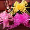 10pcs 50mm Organza Ribbon Pull Bows Wedding Car Decor Gift Wrap Colourful KC10