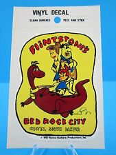 "Vintage ""FLINTSTONE'S BED ROCK CITY  CUSTER, SOUTH DAKOTA"" STICKER / DECAL (NOS)"