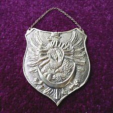 RYNGRAF - Patriotic GORGET Polish Eagle with OSTROBRAMSKA God Mother Badge brass