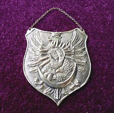 RYNGRAF - Patriotic GORGET Polish Eagle with OSTROBRAMSKA God Mother Badge brass