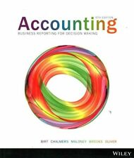 Accounting Business Reporting for Decision Making 5e by Jacqueline Birt 5th