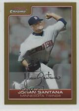 2006 Bowman Chrome Gold Refractor Non-Numbered Johan Santana #63