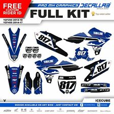YAMAHA YZF250 YZF450 2014 2016 2017 2018 MX Graphics Decals Stickers Decallab