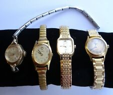 LOT 4 Vintage TIMEX and PULSAR Ladies Watches FOR PARTS OR REPAIR No Reserve