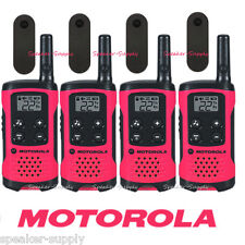Motorola Talkabout T107 Walkie Talkie 4 Pack Set 16 Mile Two Way Radios Pink New