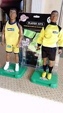 "MITRE PLAYERS TOY FIGURES X2 12"" GC STANDS OUTFIT FOOTBALL SPORTS C PICS!"
