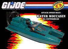 GI JOE 1984 Water Moccasin & Copperhead A Real American Hero vehicle Boat