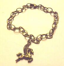 bracelet bronze 19,5 cm cheval ailé pégase 23x17 mm