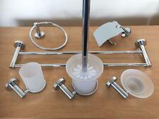 Stylish Modern 6Pcs Bathroom Accessory Set ,High Quality Chrome  Frosted Glass