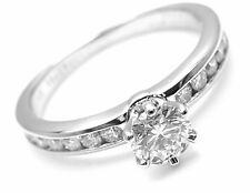 Authentic! Tiffany & Co Platinum 0.54ctw Diamond E/VS1 Engagement Ring Cert.