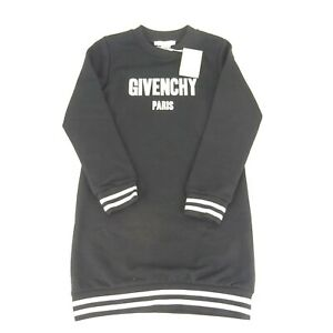 Givenchy Paris Childrens Black Sweater Dress Size 10 NEW NWT