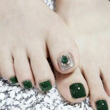 Women's Artificial Toenails Press On Short Full Covers Sqaure Tips Extension New