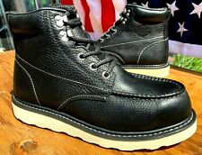 Harley-Davidson Men's Size 9 M Wedge Sole Black Leather Upper New Boots D93571