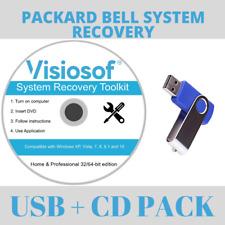 PACKARD BELL System Recovery Boot USB DVD Repair Restore Windows 10 8 7 Vista XP