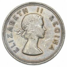 SILVER - WORLD COIN - 1953 South Africa 5 Shillings - World Silver Coin *061