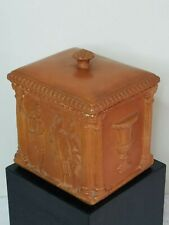 Bronzini Italian Roman Pottery Lidded Box (circa 1950's)
