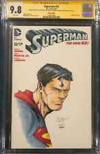DAVID FINCH ORIGINAL Sketch Art CGC 9.8 Signed Superman Batman Joker Comic