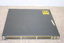 Cisco WS-C3750G-48TS-S Switch V02 48-Port 10/100/1000 3750G - Guaranteed! S5