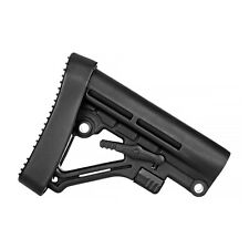 Tactical .223 5.56 Mil-Spec A-Frame 6 Position Collapsible Butt Stock & Pad BLK
