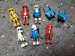 Playmobil - 7 alte Astronauten / Ersatzteile / Klicky / Raumfahrt