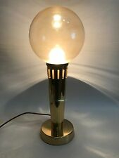 Brass Table Lamp 60s 70s Messing Kugel Tisch Lampe 60/70er Design Leuchte