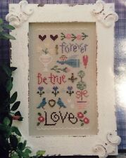 Love Sampler Cross Stitch Kit Lizzie Kate Gentle Art Thread Linen Charms Chart