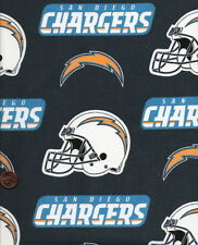 "NFL San Diego Chargers Cotton Fabric 4 Pieces 12"" X 12"""