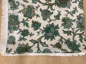 Vintage St Michael Paisley Retro 70s Tassel Bed Spread Throw bohemian boho home