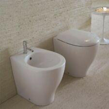 Sanitari Filo parete Ceramica Globo Bowl + 50 WC + BIDET + SEDILE SOFT CLOSE