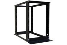 "15U 4 Post Open Frame Server Rack Enclosure 19"" Adjustable Depth Aluminum"