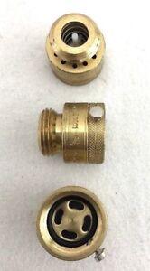 New Set Of 3 Brass Hose Bibb Vacuum Breaker Lot Backflow Preventer Anti-Siphon
