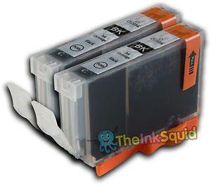 2 Black Ink Cartridge for Canon Pixma iP6600D CLI-8Bk