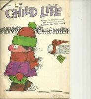 Child Life Magazine January 1985 New Year Cover Snowball