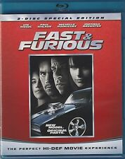 FAST AND THE FURIOUS NEW BLU RAY MOVIE 2-DISC FILM CARS PAUL WALKER VIN DIESEL