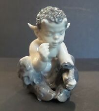 VINTAGE ROYAL COPENHAGEN FIGURINE FAUN (PAN/SATYR) WITH SNAKE, #1712