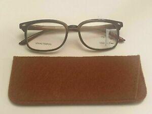 Reading Glasses - Bifocal/Varifocal -  Brown/Black - Sprung Hinges + Free Case.