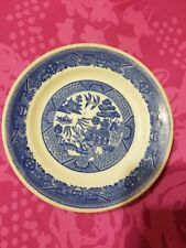 Vintage Buffalo China USA Blue Willow pattern, bread and butter plate