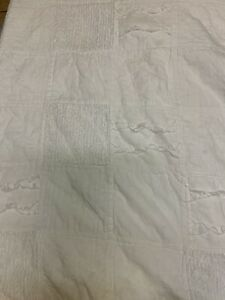 Rachel Ashwell Simply Shabby Chic Patchwork Quilt Chenille White Twin 61x84