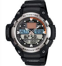 Casio Pre-owned Used SGW-400H-1B Mens Sport Twin Sensor Watch Altimeter SGW-400