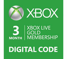 XBOX Live 3 Month Gold Subscription Card Region Free (Xbox One/360)