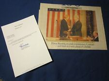 Newt Gingrich Autographed Washington Post Article 100 Days 104th Congress 1995