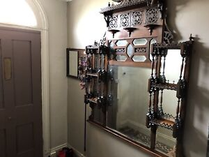 Victorian Gothic Style Over Mantle Mirror