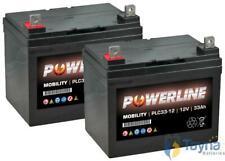 2 x 12v 33AH scootmobiel WHEELCHAIR batterijen zoals 30AH 32AH 34AH 35AH 36Ah